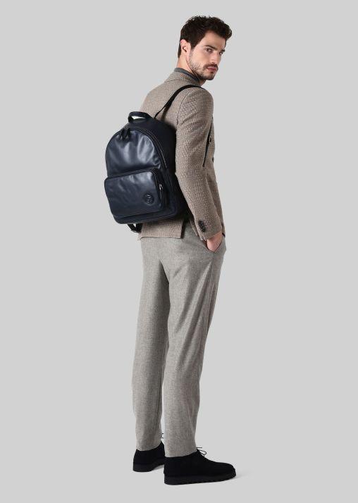 Sac à dos en cuir de la marque Giorgio Armani