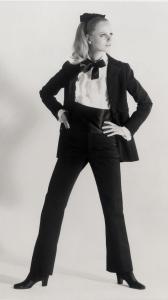 Smocking Noir Yves Saint Laurent