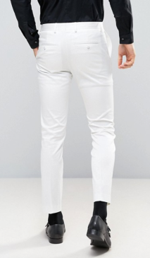 Pantalon blanc 7/8 Selected Homme