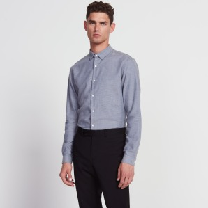 La chemise unie en flanelle