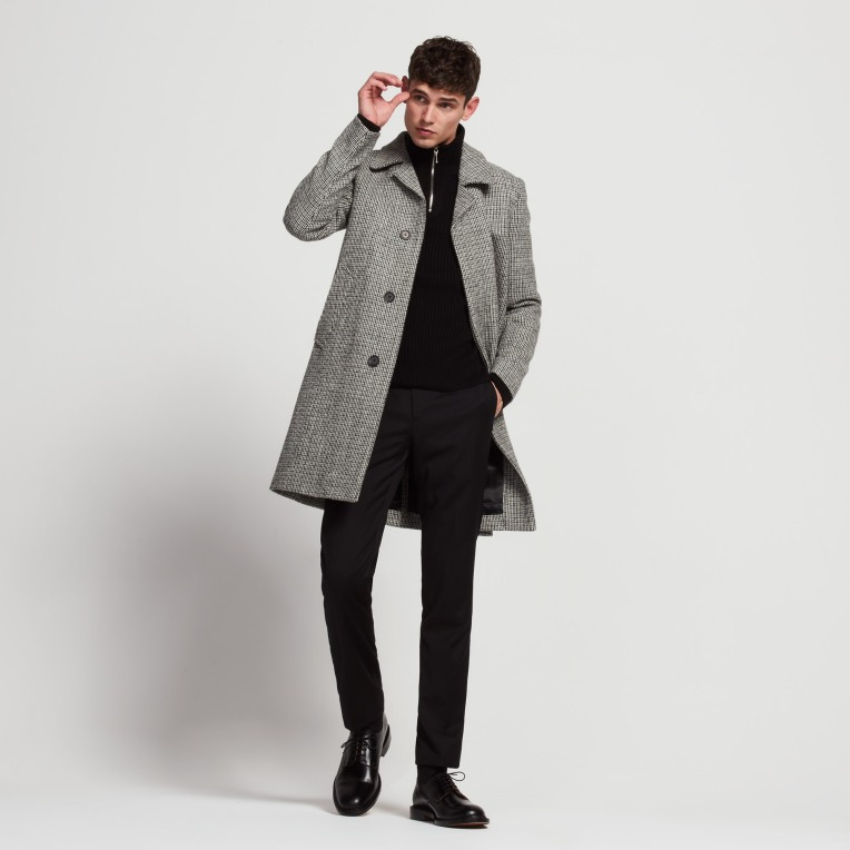 MANTEAU LONG EN HARRIS TWEED
