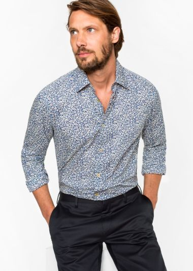 Chemise au motif 'Drawn Floral' de la marque Paul Smith