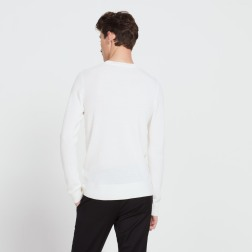 le pull fin en point brioche